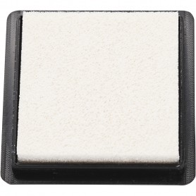 Ink Pad, white, size 40x40 mm, 1 pc
