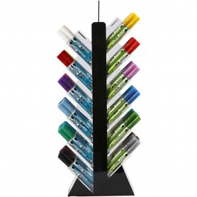 Glass & Porcelain Pens, assorted colours, H: 52 cm, depth 11,5 cm, W: 24 cm, 24x6 pc/ 1 pakk