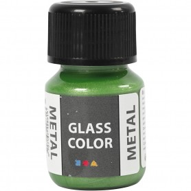 Glass Color Metal, green, 30 ml/ 1 bottle