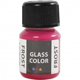Glass Color Frost, red, 30 ml/ 1 bottle