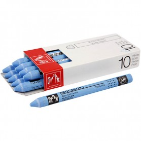 Neocolor I Crayons, light blue (161), L: 10 cm, thickness 8 mm, 10 pc/ 1 pack