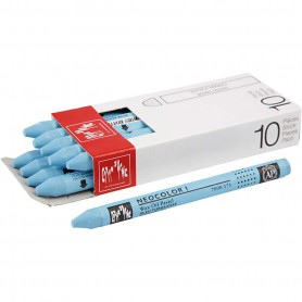 Neocolor I Crayons, turquoise blue (171), L: 10 cm, thickness 8 mm, 10 pc/ 1 pack
