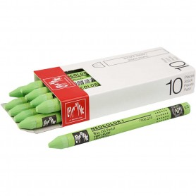 Neocolor I Crayons, yellow green (230), L: 10 cm, thickness 8 mm, 10 pc/ 1 pack