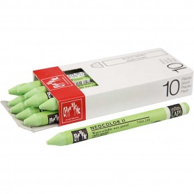 Neocolor II, yellow green (230), L: 10 cm, 10 pc/ 1 pack