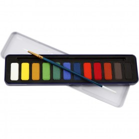 Watercolor Paint Set, mõõdud 12x30 mm, 12 colour/ 1 pakk