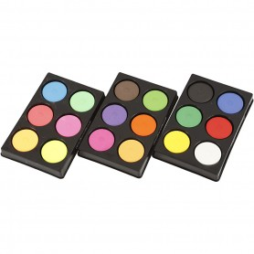 Watercolour, primary red, neon colours, additional colours, H: 16 mm, D: 44 mm, 1 set
