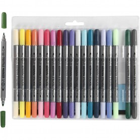 Textile Markers, additional colours, line 2,3+3,6 mm, 20 pc/ 1 pakk