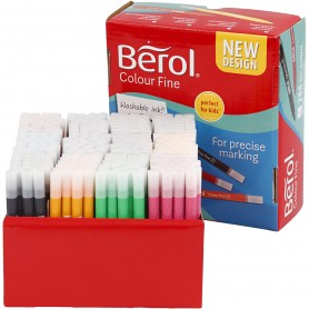 Berol Colourfine, assorted colours, line 0,3-0,7 mm, 288 pc/ 1 pack