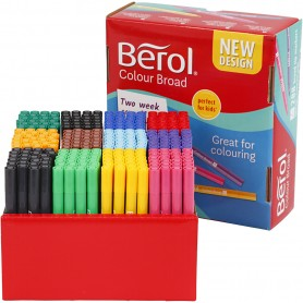 Berol Marker, assorted colours, line 1-1,7 mm, 288 pc/ 1 pack