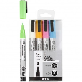 Chalk markers, bold colours, line 1,2-3 mm, 5 pc/ 1 pack