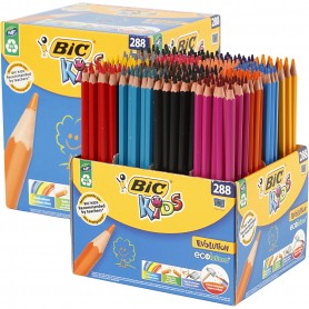 Evolution Colour Pencils, assorted colours, L: 17,5 cm, lead 3 mm, 288 pc/ 1 pack