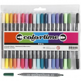 Colortime Double Marker, additional colours, line 2,3+3,6 mm, 20 pc/ 1 pack