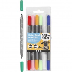 Marker, assorted colours, line 2,3+3,6 mm, 6 pc/ 1 pack