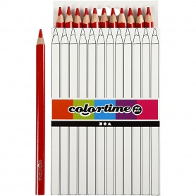 Colortime colouring pencils, red, L: 17,45 cm, lead 5 mm, JUMBO, 12 pc/ 1 pack