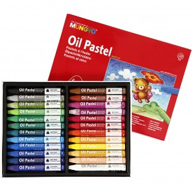 Mungyo Oil Pastel, assorted colours, L: 7 cm, thickness 10 mm, 24 pc/ 1 pack