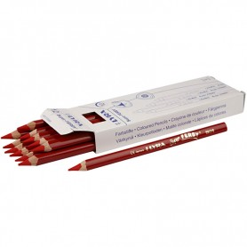 Super Ferby 1 colouring pencils, red, L: 18 cm, lead 6.25 mm, 12 pc/ 1 pack