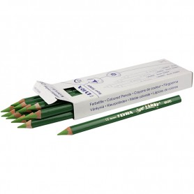 Super Ferby 1 colouring pencils, light green, L: 18 cm, lead 6.25 mm, 12 pc/ 1 pack