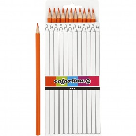 Colortime colouring pencils, orange, L: 17 cm, lead 3 mm, 12 pc/ 1 pack