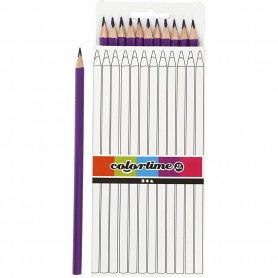 Colortime colouring pencils, purple, L: 17 cm, lead 3 mm, 12 pc/ 1 pack