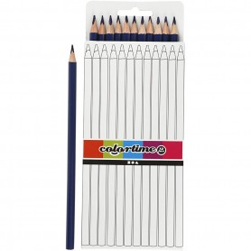 Colortime colouring pencils, dark blue, L: 17 cm, lead 3 mm, 12 pc/ 1 pack