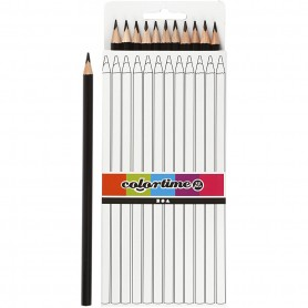 Colortime colouring pencils, black, L: 17 cm, lead 3 mm, 12 pc/ 1 pack
