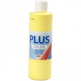 Plus Color Craft Paint, primary yellow, 250 ml/ 1 bottle