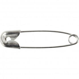 Safety Pins, silver, L: 22 mm, thickness 0,6 mm, 100 pc/ 1 pakk