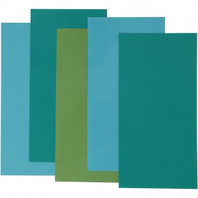 Color Dekor, blue/green harmony, 5 ass sheets/ 1 pack
