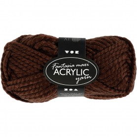 Fantasia Acrylic Yarn, brown, 50 g/ 1 ball