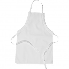 Apron, white, L: 61 cm, W: 43 cm, size 4-6 years, 210 g, 1 pc