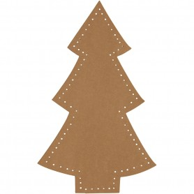 Christmas tree, natural, H: 18 cm, W: 11 cm, 350 g, 4 pc/ 1 pack