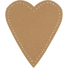 Heart, natural, H: 12 cm, W: 10 cm, 350 g, 4 pc/ 1 pack