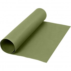 Faux Leather Paper, green, W: 50 cm, one coloured, 350 g, 1 m/ 1 roll