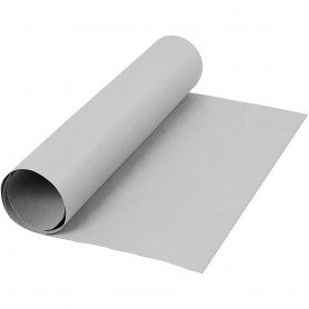 Faux Leather Paper, grey, W: 50 cm, one coloured, 350 g, 1 m/ 1 roll