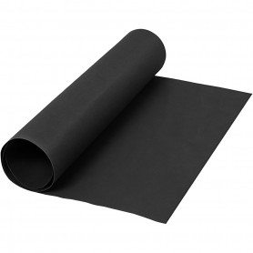Faux Leather Paper, black, W: 50 cm, one coloured, 350 g, 1 m/ 1 roll
