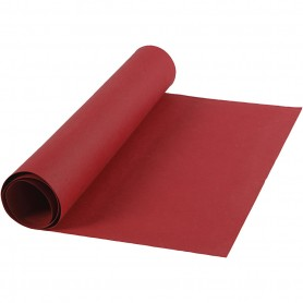Faux Leather Paper, red, W: 50 cm, one coloured, 350 g, 1 m/ 1 roll