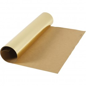 Faux Leather Paper, gold, W: 49 cm, foil, 350 g, 1 m/ 1 roll