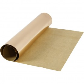Faux Leather Paper, rose gold, W: 49 cm, one coloured,foil, 350 g, 1 m/ 1 roll