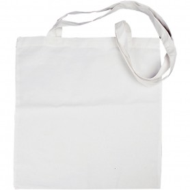 Shopping Bag, white, size 38x42 cm, 145 g, 10 pc/ 1 pack
