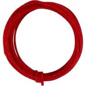 Jute wire, red, thickness 2-4 mm, 3 m/ 1 pack