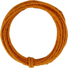 Jute wire, orange, thickness 2-4 mm, 3 m/ 1 pack