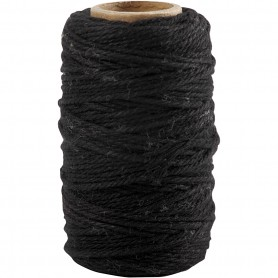 Cotton Cord, must, thickness 1,1 mm, 50 m/ 1 rull