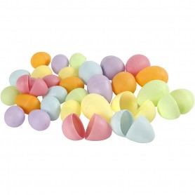 Egg, pastel colours, H: 4,5+6 cm, D: 3+4  cm, 180 pc/ 1 pakk