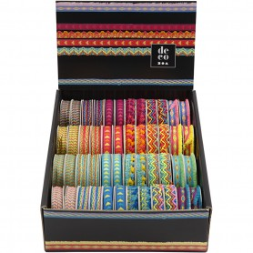 Decorative Ribbon, W: 10-15 mm, 48x2 m/ 1 pack