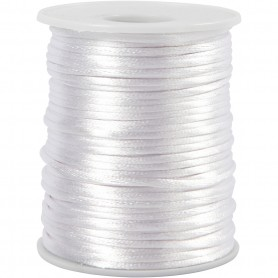 Satin Cord, valge, thickness 2 mm, 50 m/ 1 rull
