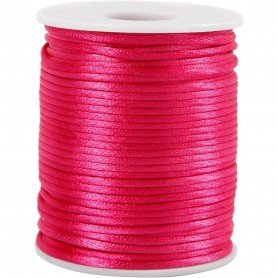 Satin Cord, roosa, thickness 2 mm, 50 m/ 1 rull