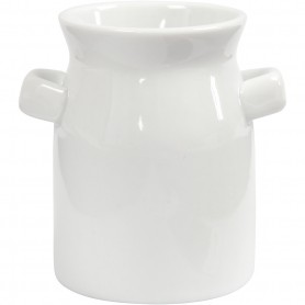 Milk Can, white, H: 7,5 cm, 2 pc/ 1 pack