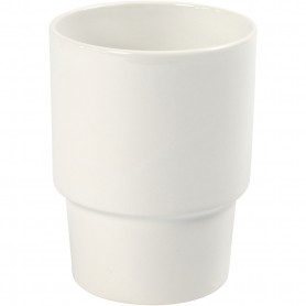Mug, white, H: 11 cm, D: 8,5 cm, 2 pc/ 1 pack