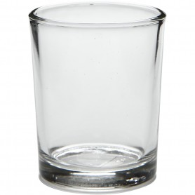 Tealight holder in glass, H: 6,5 cm, D: 4,5 cm, 4 pc/ 1 pakk