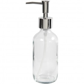 Soap dispenser, clear, H: 19,3 cm, D: 6,3 cm, 230 ml, 1 tk